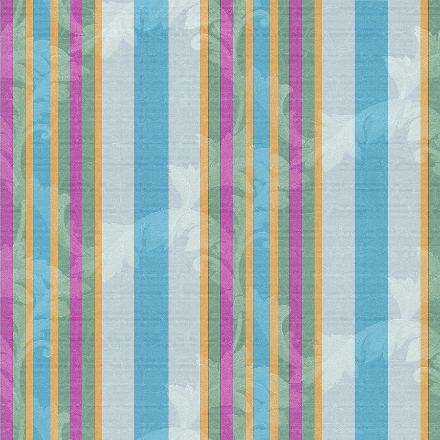 Pattern Digital Art - Scroll Stripe Grey by Bill Jackson