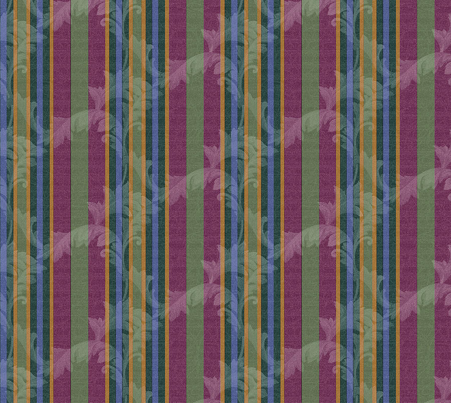 Pattern Digital Art - Scroll Stripe Plum by Bill Jackson