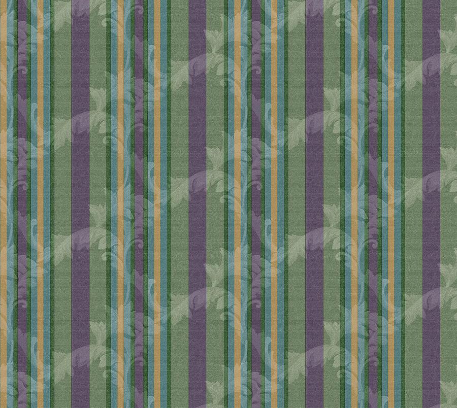 Pattern Digital Art - Scrolls Tripe Moss by Bill Jackson
