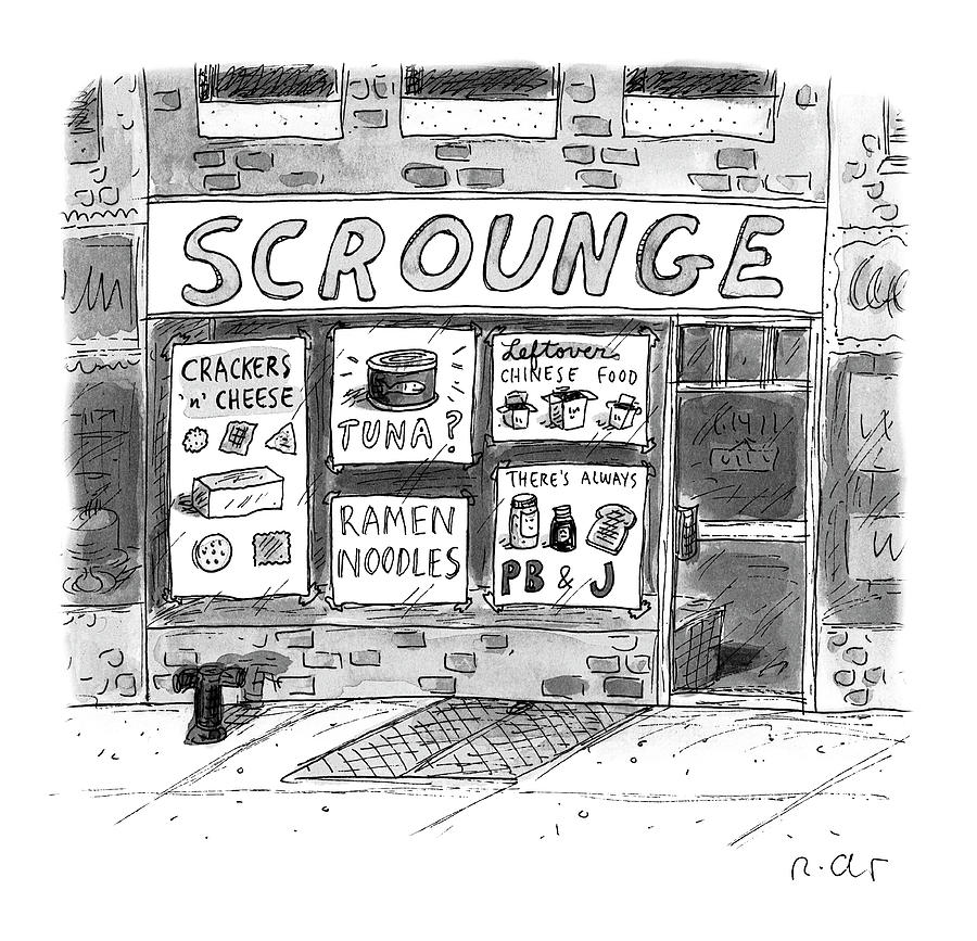 Scrounge Drawing by Roz Chast