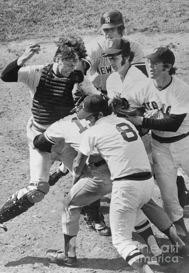 Scuffle Between Yankee And Red Sox Photograph by Bettmann