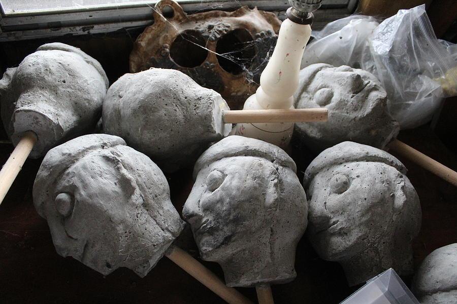 Sculpture Photograph - Sculpted Heads by Callen Harty