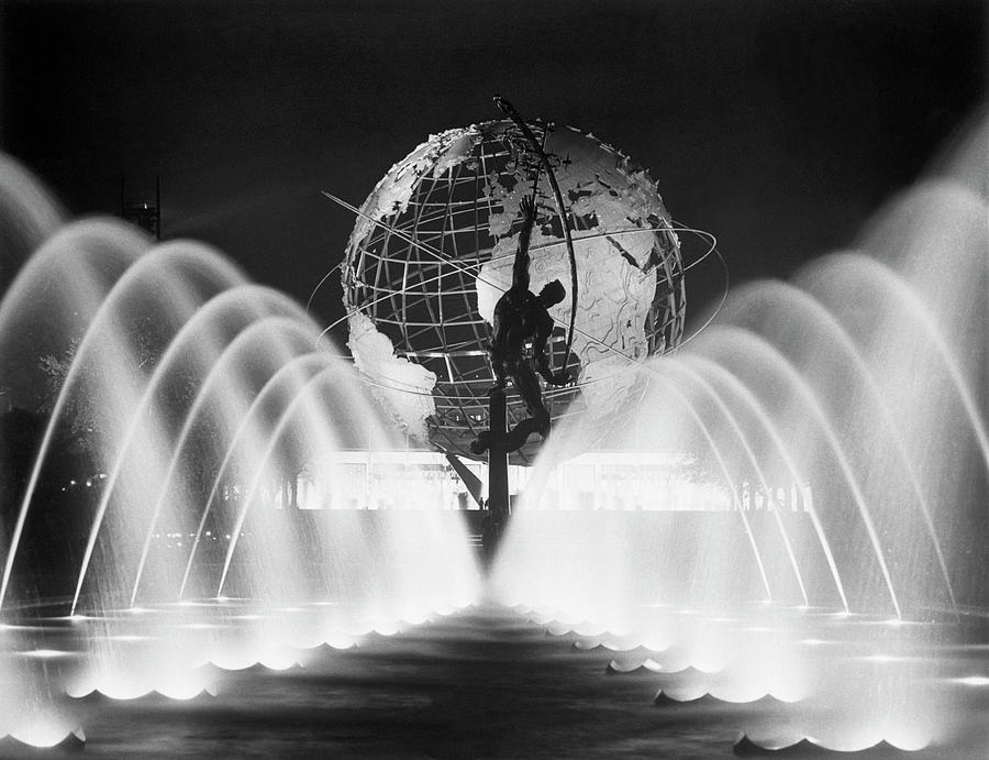 Sculpture, Fountains, And Unisphere At Photograph by Bettmann