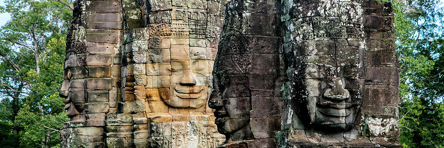 Sculptures At Bayon Temple, Angkor by Panoramic Images