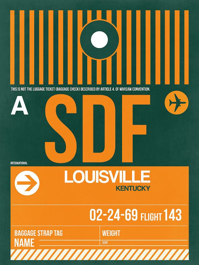 Vacation Digital Art - Sdf Louisville Luggage Tag II by Naxart Studio