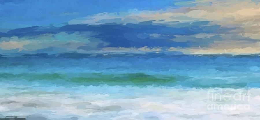 Sea and Beach abstract by ANTHONY FISHBURNE