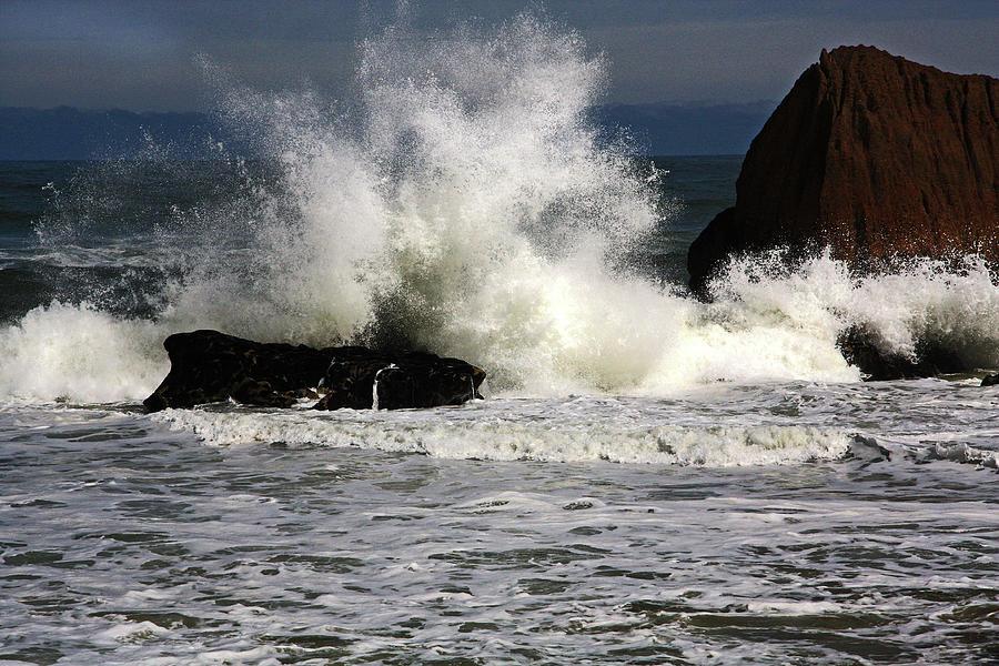 Sea and Foaming Rocks by Nareeta Martin