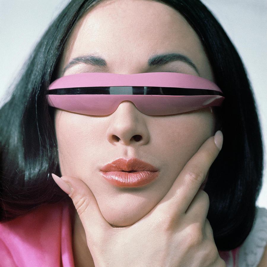 Sea And Ski Sunglasses And Pussycat Pink Lips  Photograph by John Rawlings