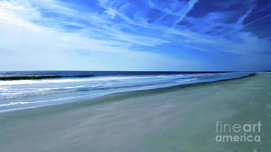 Sea and Sky at the Beach by Roberta Byram