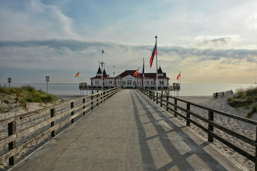 sea bridge in the baltic resort Ahlbeck by Joachim G Pinkawa