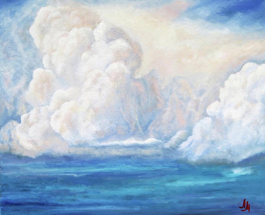 Clouds Painting - Sea Cloud. Colorful. by SurfArtTango Marina Lisovaya