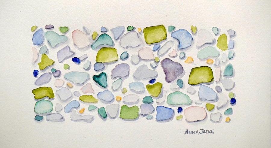 Sea Glass Hearts by Anna Jacke