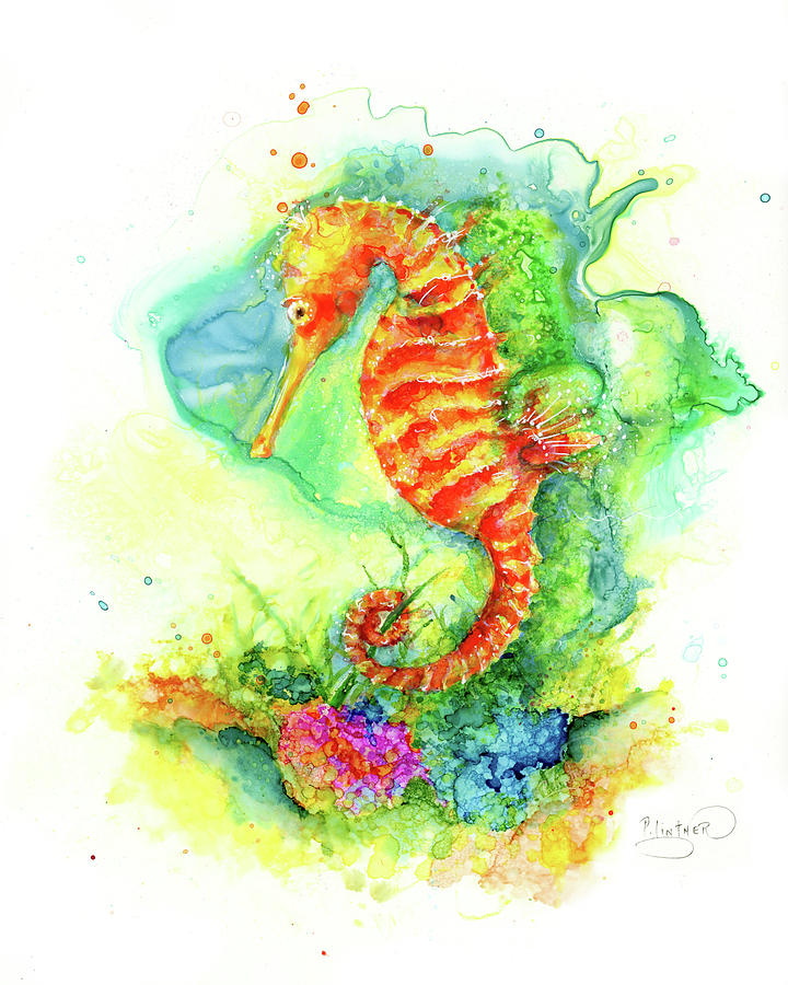 Colorful Sea Horse by Patricia Lintner