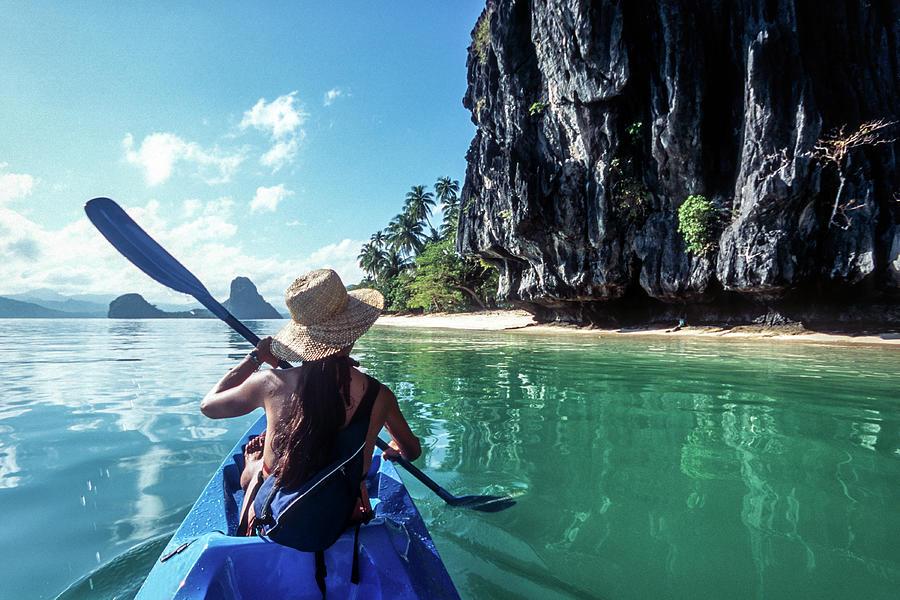 Sea Kayaking Photograph by John Seaton Callahan