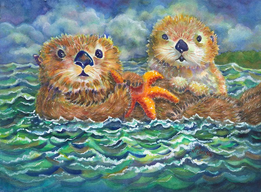 Sea Otters by Ann Nicholson