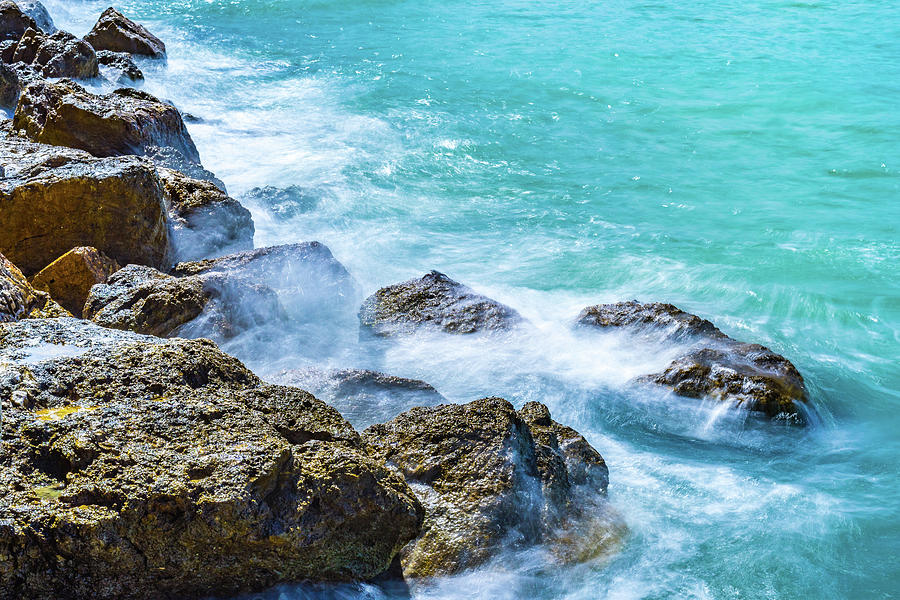 Sea Rocks in Montego Bay by Debbie Ann Powell