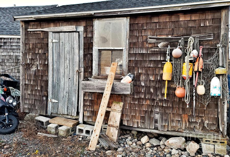 Sea Shack in Rockport by Mary Capriole
