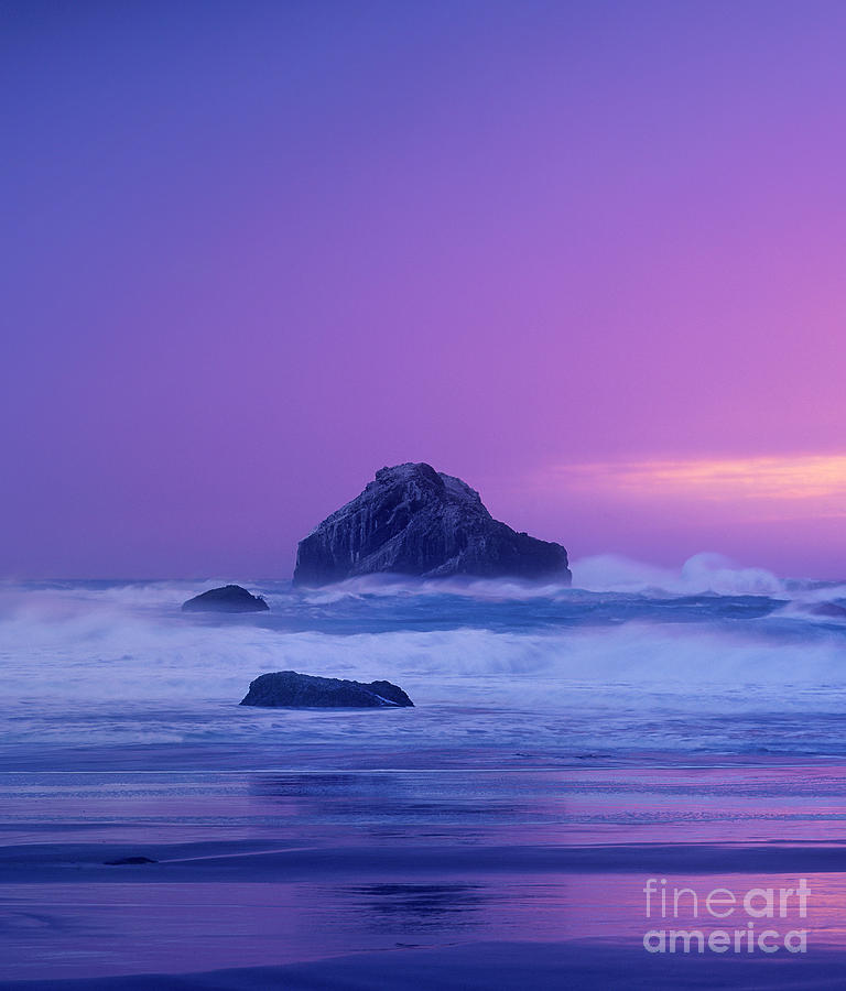 sea stack clearing storm bandon beach oregon by Dave Welling