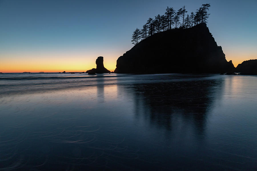 Sea Stack Silhouette by Ed Clark