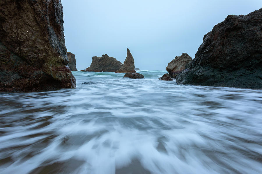 Sea Stacks And Storms Photograph