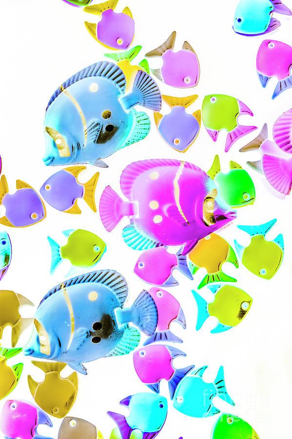 Aquarium Photograph - Sea Swimmers by Jorgo Photography - Wall Art Gallery