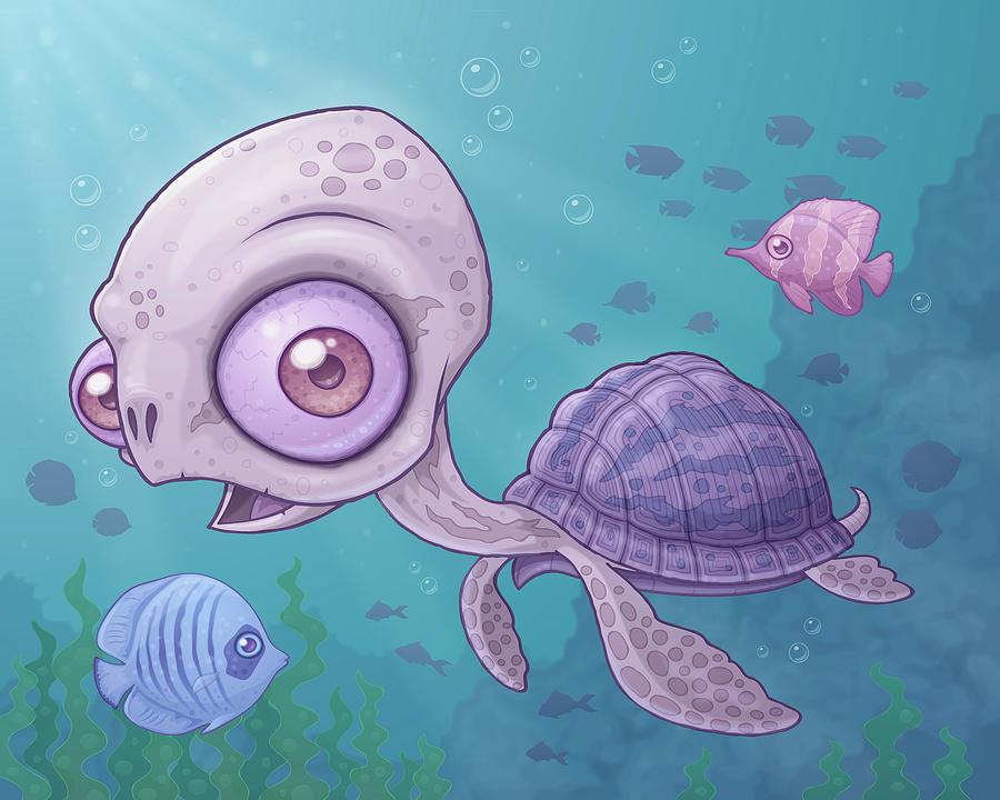 Sea Turtle Digital Art