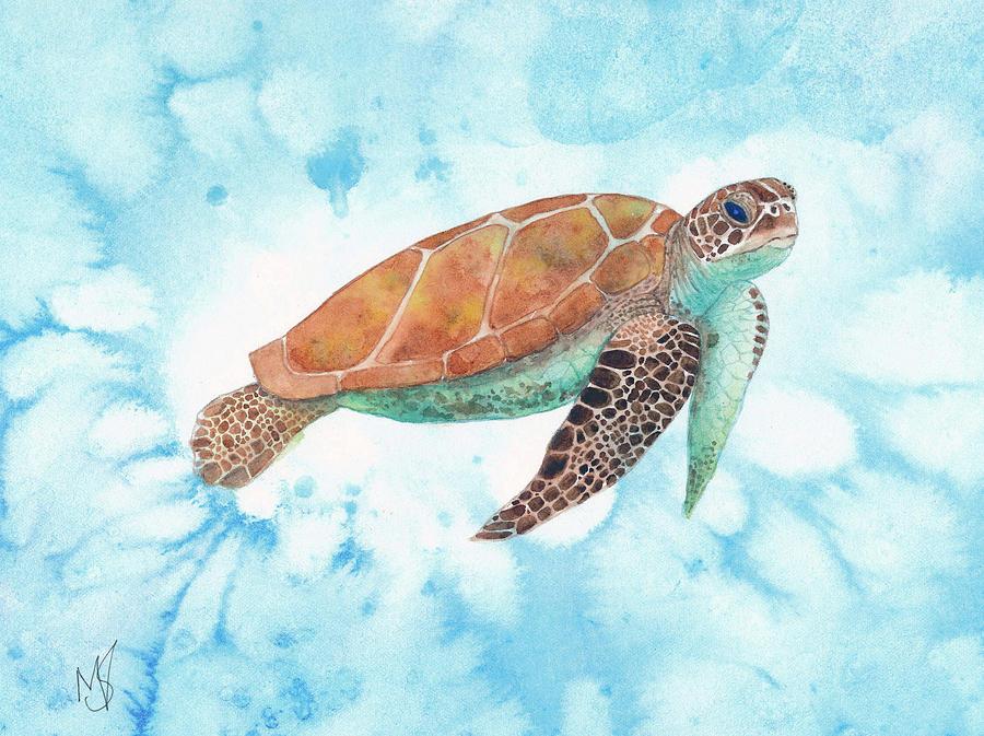 Turtle Painting - Sea Turtle by Marie Stone-van Vuuren
