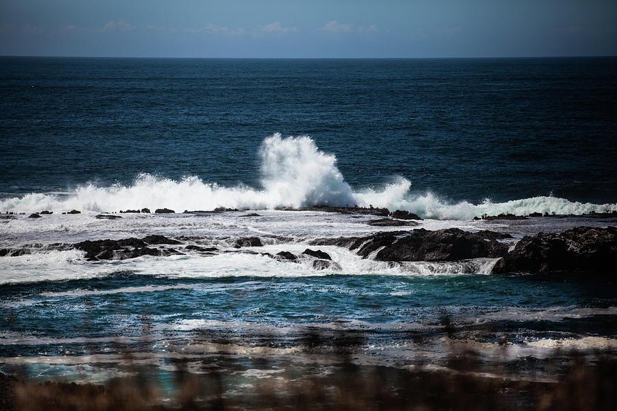 Waves Photograph - Sea View by John Heywood