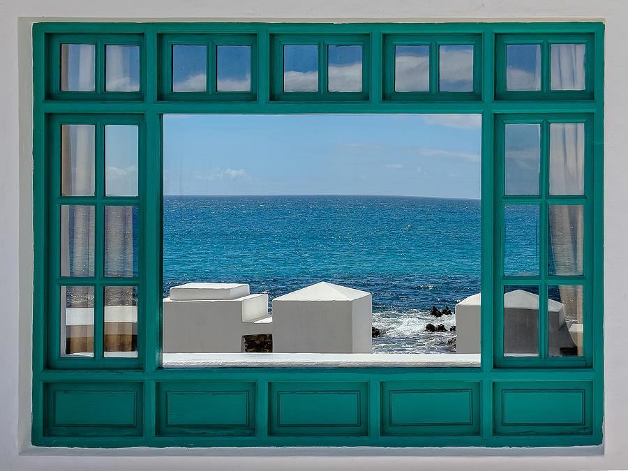 Frame Photograph - Sea View by Franz Baumann