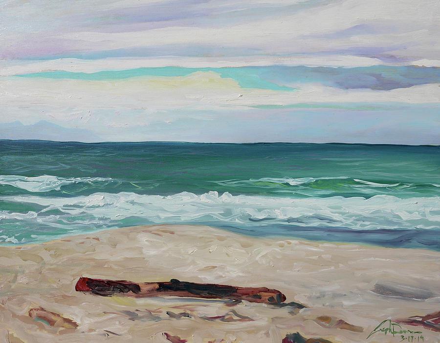 Seabright Painting - Seabright Beach CA by Joseph Demaree