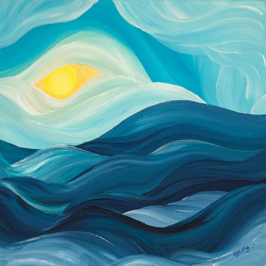 Seacape #2 - Perceptual Gazing Painting