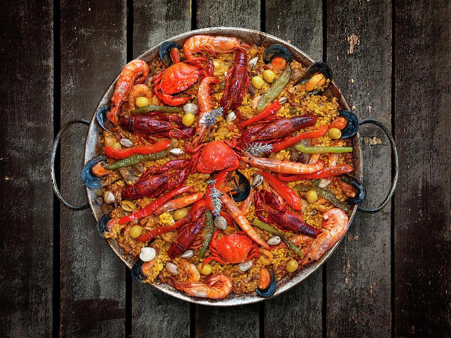 Seafood Paella Photograph by Somatuscani