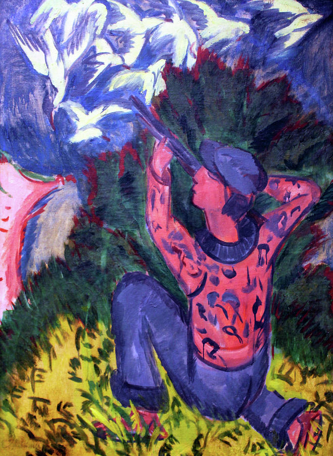 Ernst Ludwig Kirchner Painting - Seagull Hunter In The Woods - Digital Remastered Edition by Ernst Ludwig Kirchner