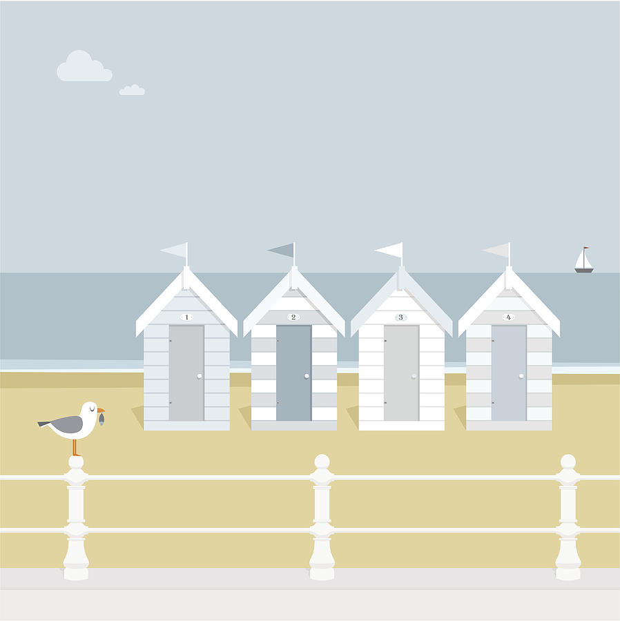 Seagull Waiting On The Beach Goers To Digital Art by Myillo