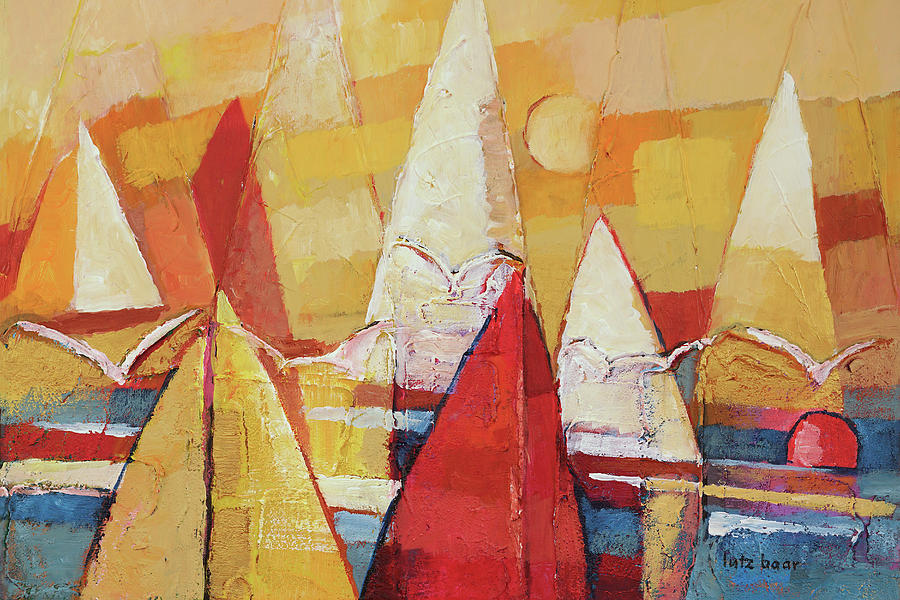 Seagulls and Sails by Lutz Baar