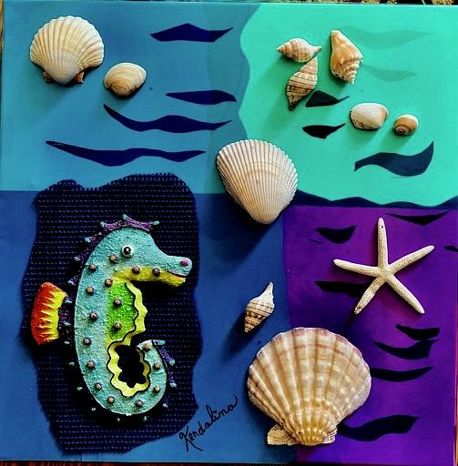 Seahorse and Friends by Kenlynn Schroeder