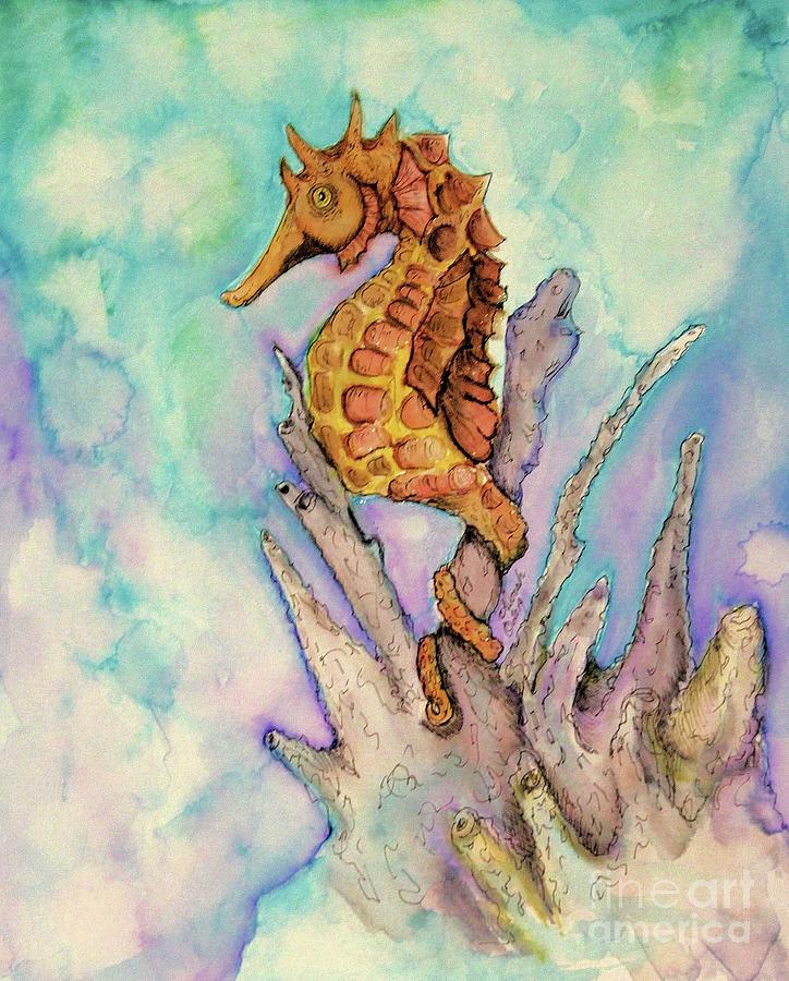 Seahorse on Coral by Alorah Tout