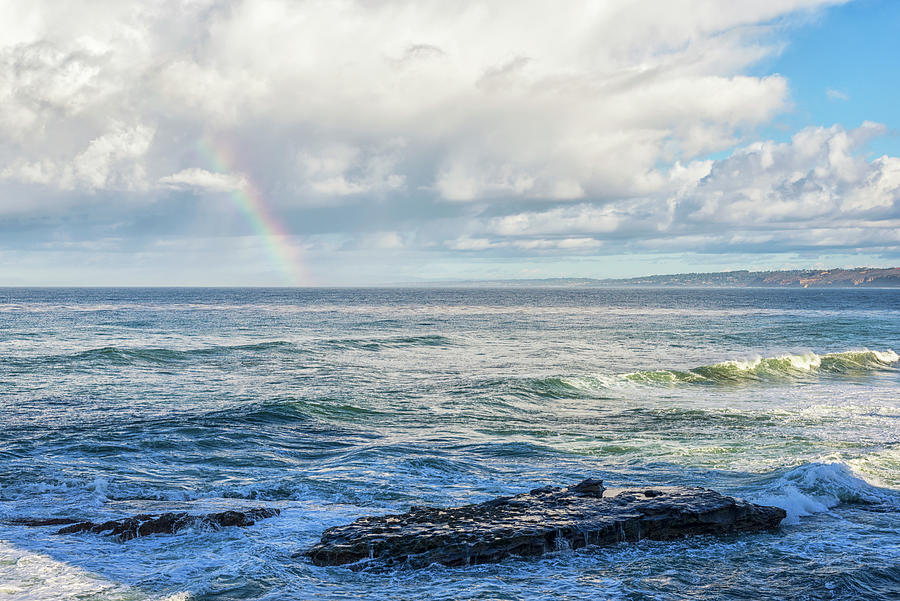 Seal Rock and a Rainbow by Joseph S Giacalone