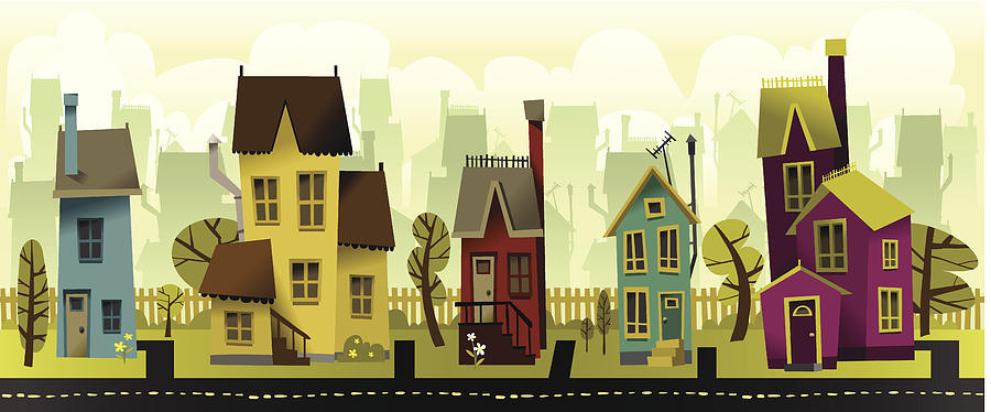 Seamless Neighborhood Digital Art by Doodlemachine