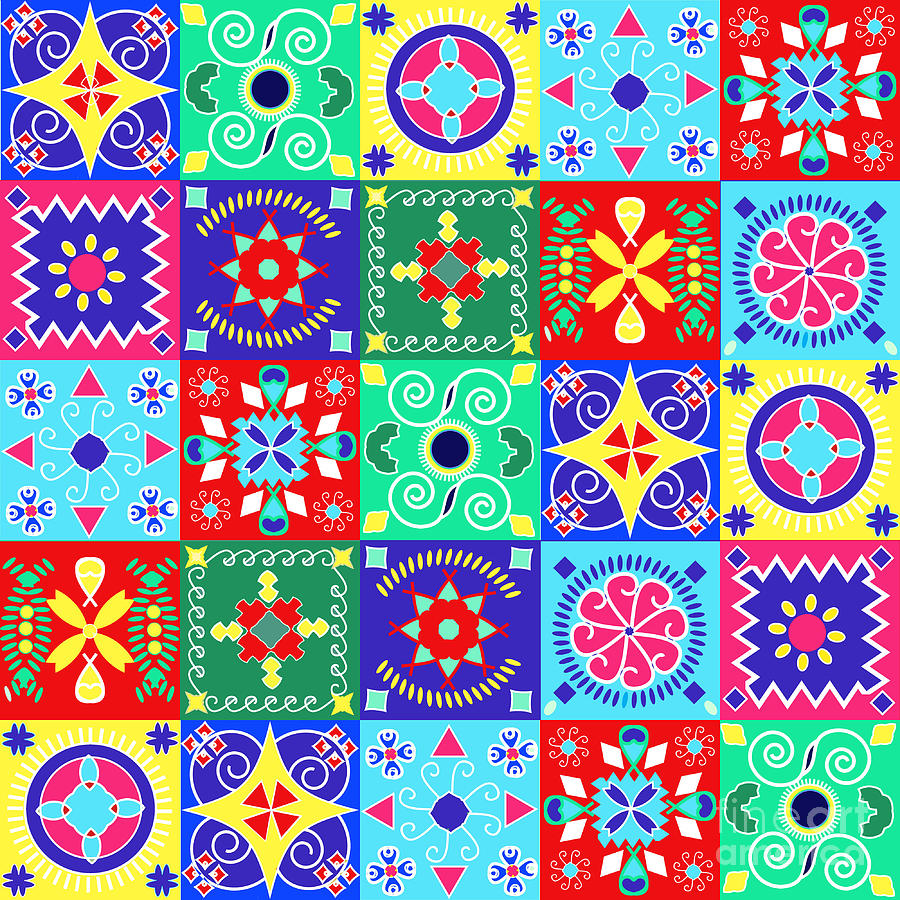 Love Digital Art - Seamless Pattern  Holiday Cheerful by Fotinia