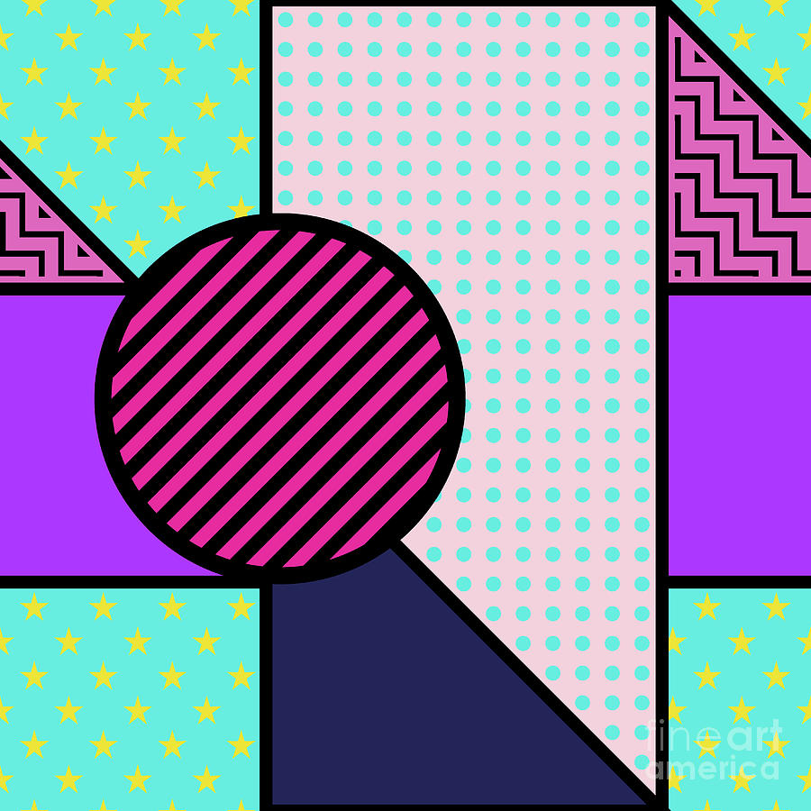 Seamless Pattern In Geometric Style Digital Art by Iryna Omelchak