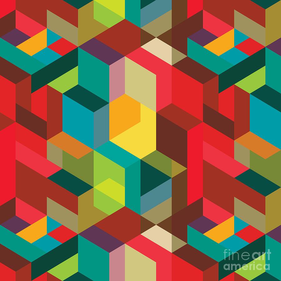 Template Digital Art - Seamless Pattern With Decorative by Emirilen