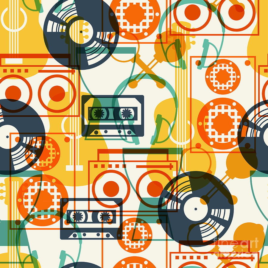Play Digital Art - Seamless Pattern With Musical by Incomible
