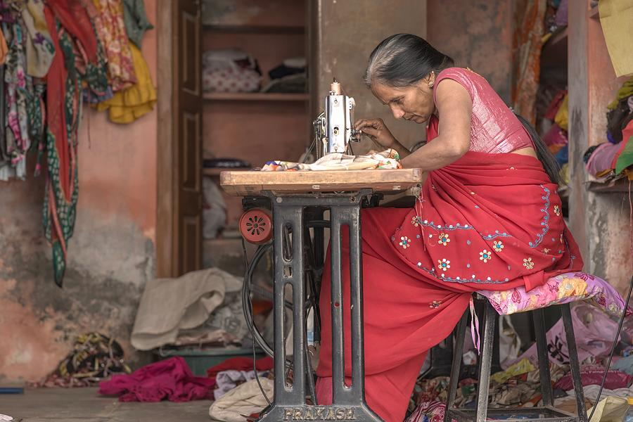 Indian Portraits Photograph - Seamstress by James Kenning