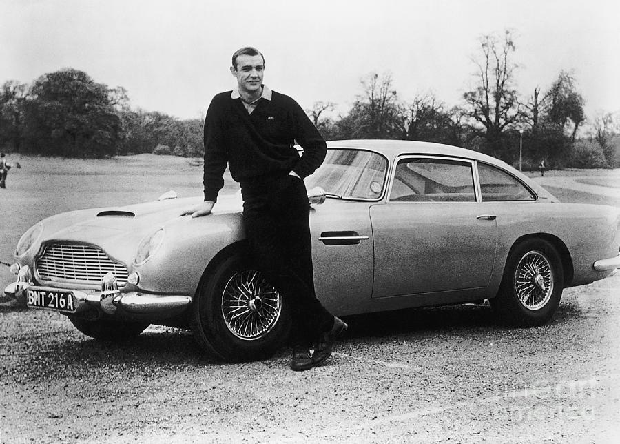 Sean Connery With 007s Aston Martin Photograph by Bettmann