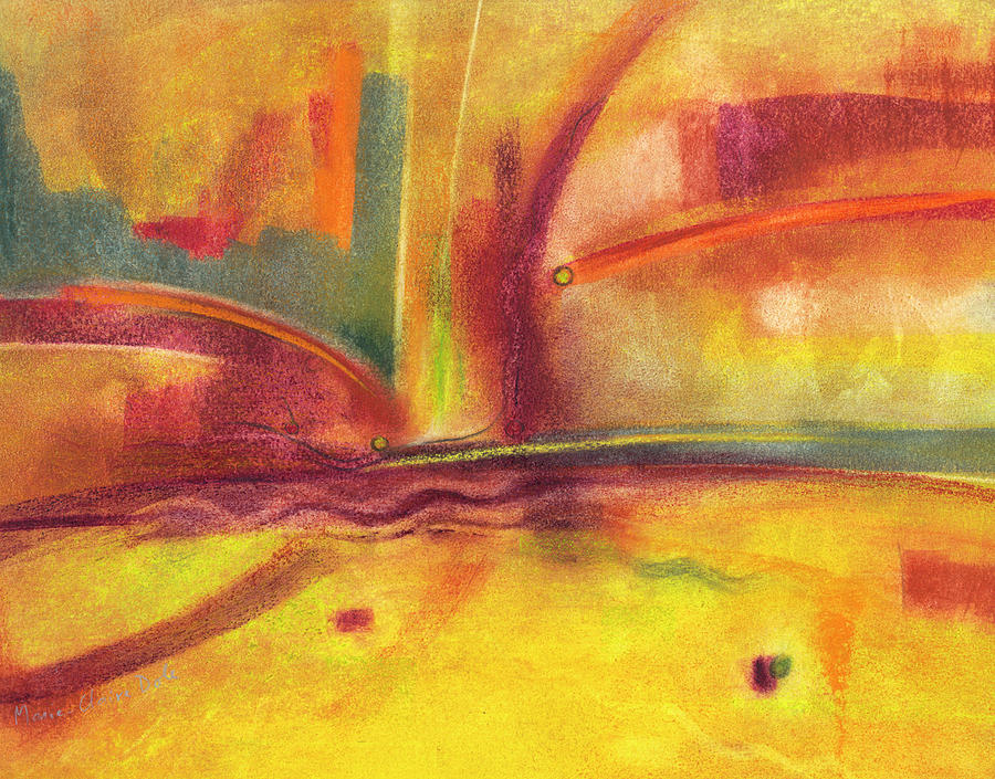 Abstract Pastel - Searching for Hope by Marie-Claire Dole