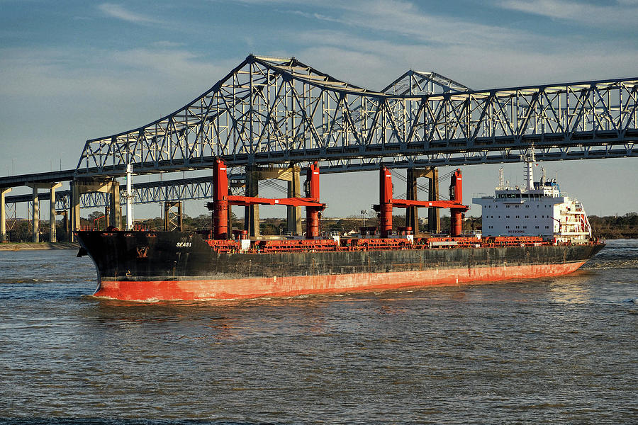 Seas 1 Bulk Carrier 9589085 on the Mississippi,  by Bill Swartwout Fine Art Photography