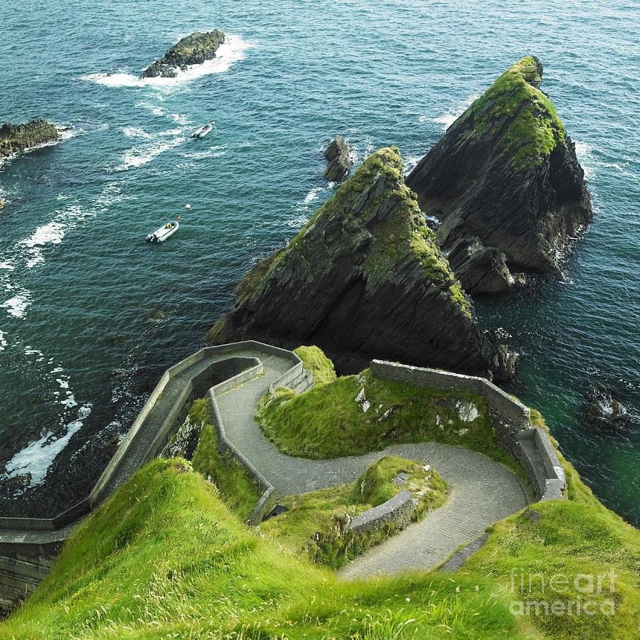 Cliff Photograph - Seascape, County Kerry, Ireland by Richard Semik