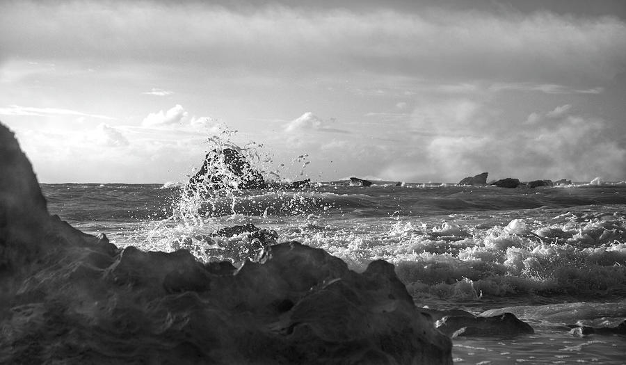 Bermuda Photograph - Seascape In Black And White by Betsy Knapp