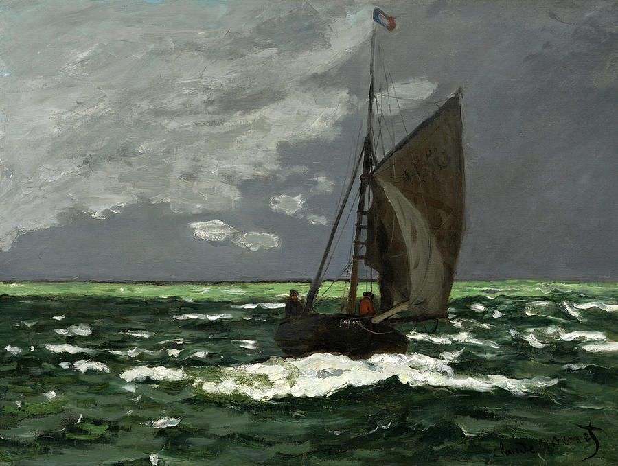Claude Monet Painting - Seascape, Storm, 1866 by Claude Monet